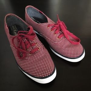 KEDS Beet Red Champion Microdot Sneakers